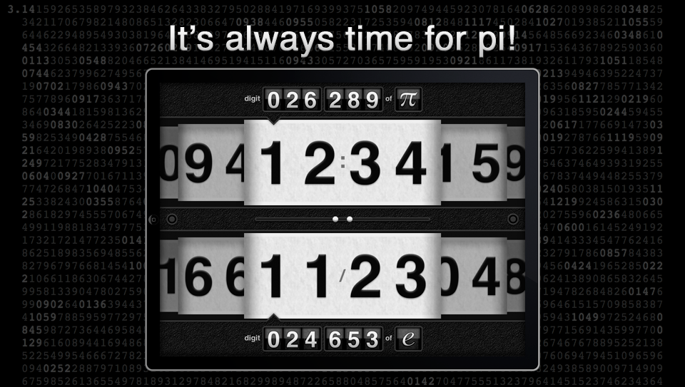 piClock: It's always time for pi!